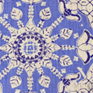 6430T-05 NEW BATIK Pacific Blue New Navy on Tan Quadrille Fabric