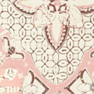 6430-14 NEW BATIK Soft Pink Brown on Tint Quadrille Fabric