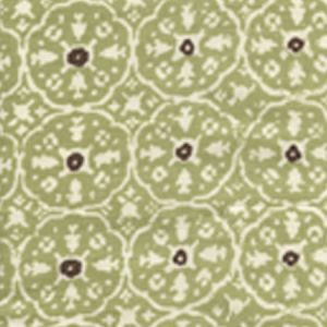 149-40WP NITIK II Sage Green Brown On Almost White Quadrille Wallpaper
