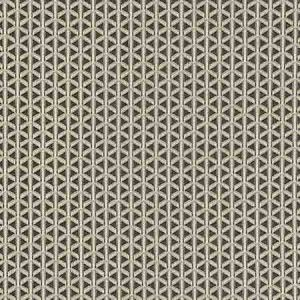 NK 0008CROS CROSS CHANNEL Black Old World Weavers Fabric