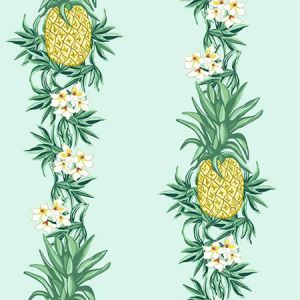 Nathan Turner Pineapple Express Robin's Egg Wallpaper