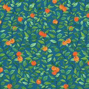 Nathan Turner Orange Crush Cadet Blue Wallpaper