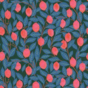 Nathan Turner Lemons Peacock Wallpaper