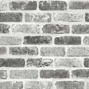 NW30510 Gray Washed Brick Seabrook Wallpaper