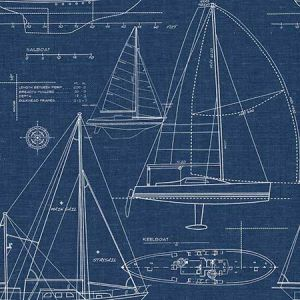 NW32902 Yacht Club Seabrook Wallpaper