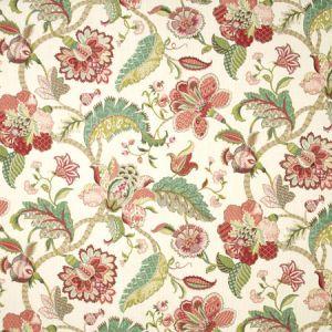 OPEN MEADOW Raspberry Carole Fabric