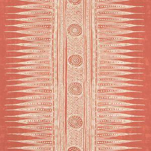 P2018107-119 INDIAN ZAG PAPER Madder Lee Jofa Wallpaper