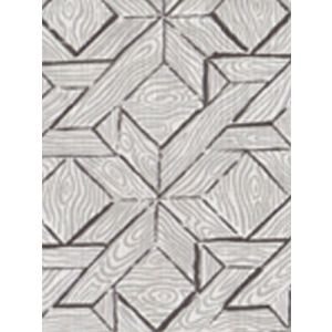 6280-05 PARQUETRY Gray Silver on White Quadrille Fabric