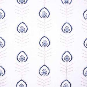 PEACOCK FEATHER Cobalt Carole Fabric