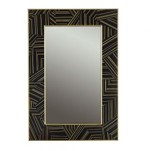 Get In Line Mirror Black by Source 4 Interiors