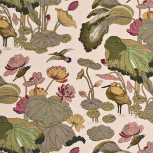 R1206-2 NYMPHEUS LINEN Biscuit Taupe GP & J Baker Fabric
