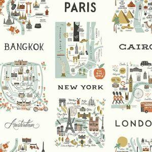 RI5160 City Maps York Wallpaper
