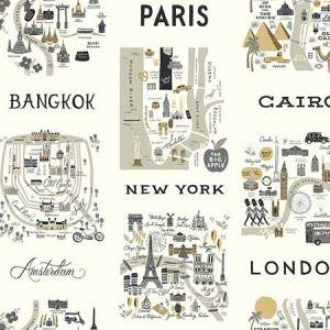 RI5161 City Maps York Wallpaper