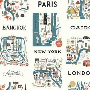 RI5162 City Maps York Wallpaper