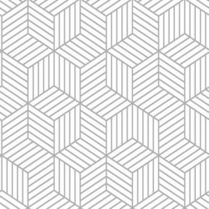 RMK10705WP Striped Hexagon York Wallpaper