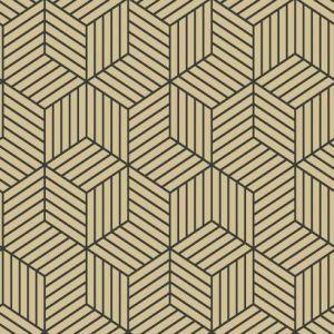 RMK10707WP Striped Hexagon York Wallpaper