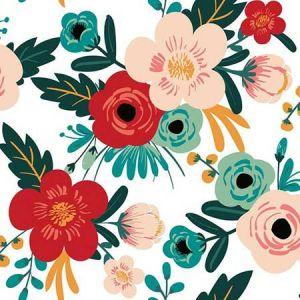 RMK11625RL Poppy Floral York Wallpaper