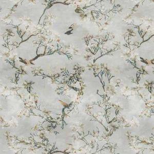 SAKURA Dusk Blue Vervain Fabric