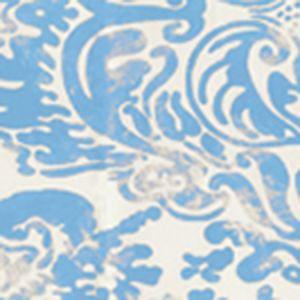 2330-26WP SAN MARCO New Blue On Off White Quadrille Wallpaper