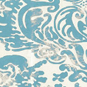 2330-27WP SAN MARCO Dark Turquoise On Off White Quadrille Wallpaper