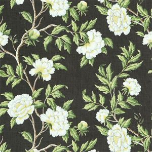 SC 000316616 16616-003 PEONIA LINEN PRINT Onyx Scalamandre Fabric
