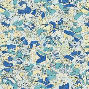 16612-001 DRAGON DANCE Summer Sage Scalamandre Fabric