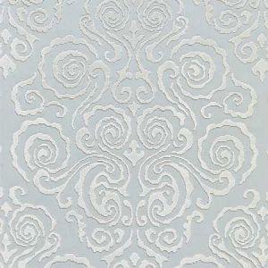 27219-001 CIRRUS VELVET DAMASK Mist Scalamandre Fabric