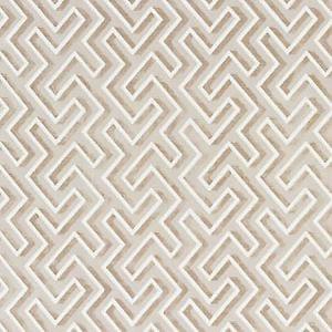 SC 0001 27237 MAZE VELVET Latte Scalamandre Fabric