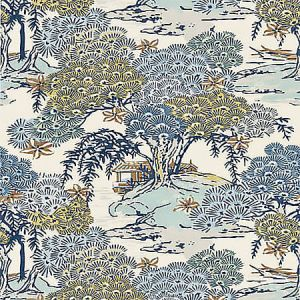 SC 0002 16627 SEA OF TREES Blue Ridge Scalamandre Fabric