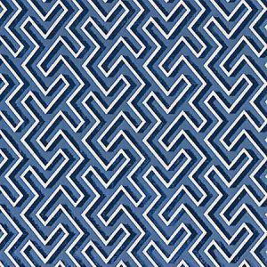 SC 0003 27237 MAZE VELVET Cobalt Scalamandre Fabric