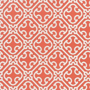 27214-004 AILIN LATTICE WEAVE Coral Scalamandre Fabric
