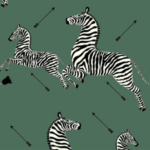 WP81388MV-004 ZEBRAS VINYL Serengeti Green Scalamandre Wallpaper