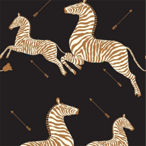 WP81388MV-005 ZEBRAS VINYL Black Scalamandre Wallpaper