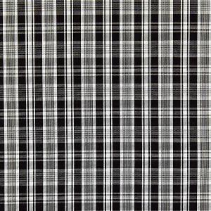 27122-006 PRESTON COTTON PLAID Noir Scalamandre Fabric