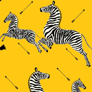 WP81388MV-006 ZEBRAS VINYL Yellow Scalamandre Wallpaper