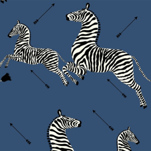WP81388MV-008 ZEBRAS VINYL Denim Scalamandre Wallpaper