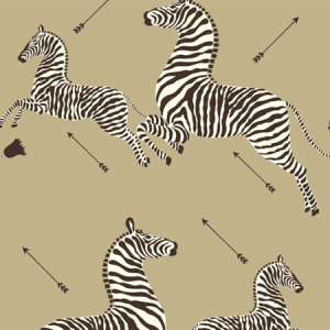 WP81388MV-011 ZEBRAS VINYL Gold Scalamandre Wallpaper
