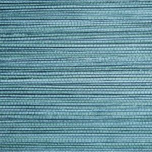 SC 0016 WP88441 WILLOW WEAVE Lagoon Scalamandre Wallpaper