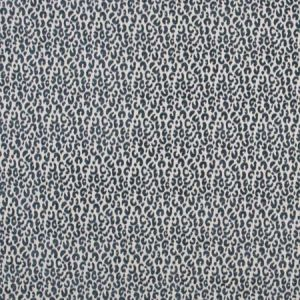 SNOW LEOPARD Denim Carole Fabric