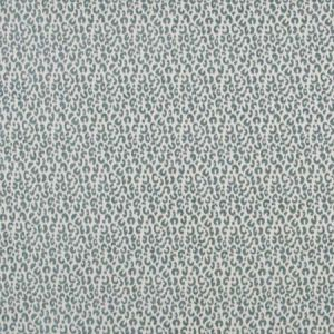 SNOW LEOPARD Teal Carole Fabric