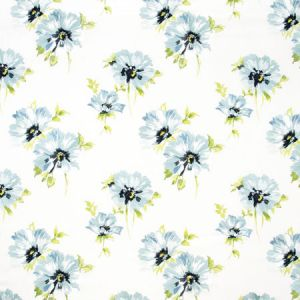 SUMMER BLOOM Aqua Carole Fabric