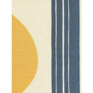 7830V-08 TETE A TETE VERTICAL Aqua Navy Inca Gold Quadrille Fabric
