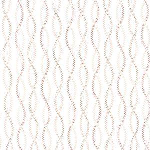 TINY LEAVES Terracota Carole Fabric
