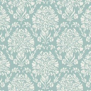 TL1933 Block Print Damask York Wallpaper