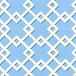 302794WW TODD Blue On White Quadrille Wallpaper