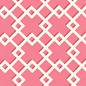 302795W TODD Raspberry On Almost White Quadrille Wallpaper