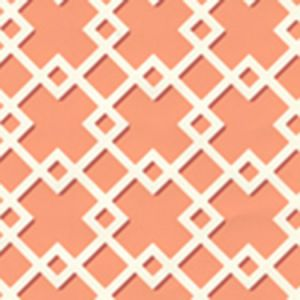 302793W TODD Salmon On Almost White Quadrille Wallpaper