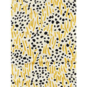 3030-10 TRILBY Charcoal Dots Gold Lines Quadrille Fabric