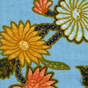 2310-02 TURTLE BATIK Bahama Blue Multi Quadrille Fabric
