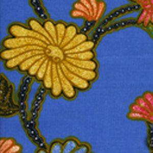 2310-06 TURTLE BATIK Pacific Blue Multi Quadrille Fabric